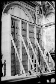 Salvaguarda del Tesoro Artístico Nacional durante la Guerra Civil española · Obras de protección de la Iglesia del Patriarca para acoger el Tesoro Artístico Nacional · Valencia