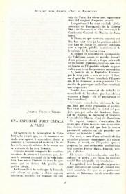Artículos sobre la exposición de arte catalán en París · Butlletí dels Museus d'Art de Barcelona · 1937